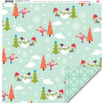 My Little Shoebox - Winter Wonderland Collection - 12 x 12 Double Sided Paper - Winter Folly