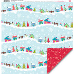 My Little Shoebox - Winter Wonderland Collection - 12 x 12 Double Sided Paper - Snow Flake Valley