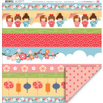 My Little Shoebox - Aiko Collection - 12 x 12 Double Sided Paper - One Fine Day