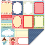 My Little Shoebox - Aiko Collection - 12 x 12 Double Sided Paper - Happy Notes
