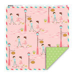 My Little Shoebox - Happy Go Lucky Collection - 12 x 12 Double Sided Paper - Our Place