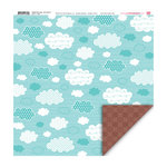 My Little Shoebox - Happy Go Lucky Collection - 12 x 12 Double Sided Paper - On Cloud 9