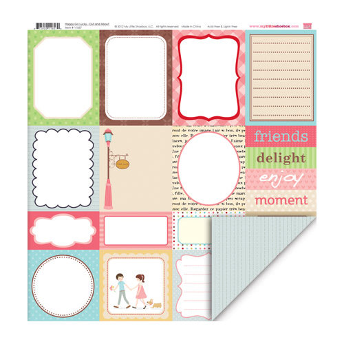 My Little Shoebox - Happy Go Lucky Collection - 12 x 12 Double Sided Paper - Out and About