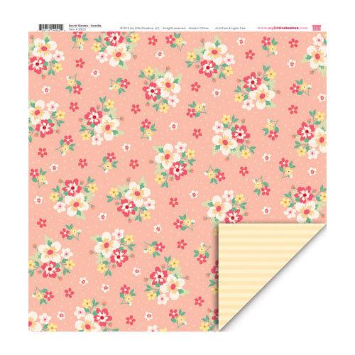 My Little Shoebox - Secret Garden Collection - 12 x 12 Double Sided Paper - Sweetie