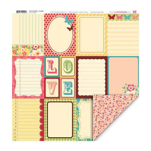 My Little Shoebox - Secret Garden Collection - 12 x 12 Double Sided Paper - La petite