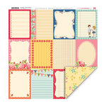 My Little Shoebox - Notebook Collection - 12 x 12 Double Sided Paper - Bits and Pieces