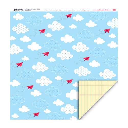 My Little Shoebox - Coming Home Collection - 12 x 12 Double Sided Paper - Soaring Above