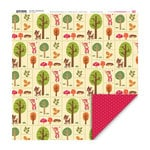 My Little Shoebox - Oh, Deer! Collection - 12 x 12 Double Sided Paper - Creekside Trail