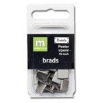Making Memories Brads - Square - Pewter