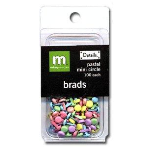 Making Memories Mini Brads -  Circle - Pastel