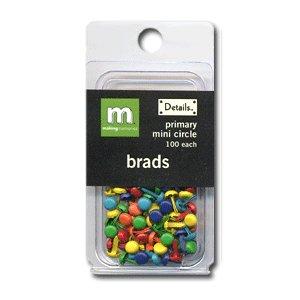 Making Memories Mini Brads -  Circle - Primary