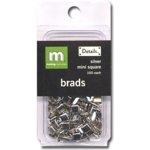 Making Memories Mini Brads - Square - Silver, CLEARANCE