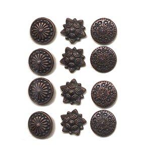 Making Memories Decorative Brads - Round - Antique Copper Variety Pack 1