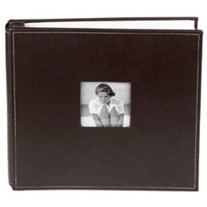 Making Memories 12 x 12 Leather Album - Asphalt