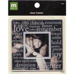 Making Memories Sheer Frames - Love