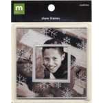 Making Memories Sheer Frames - Snowflakes, CLEARANCE