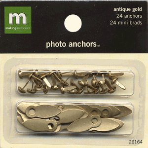 Making Memories Photo Anchors - Antique Gold with Brads