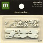 Making Memories Photo Anchors - Antique White with Brads, CLEARANCE
