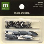 Making Memories Photo Anchors - Pewter with Brads