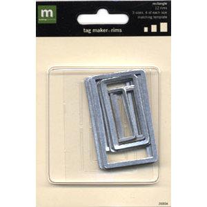 Making Memories - Tag Maker Rim Package - Rectangle Rims