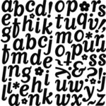 Making Memories - Boho Chic - Velvet Alphabet - Asphalt, CLEARANCE