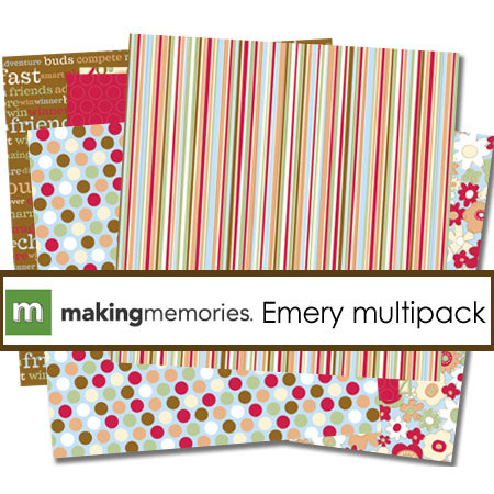 Making Memories - Embellishment Multipack Paper Collection - Cheeky - Emery, CLEARANCE