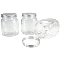 Making Memories - Scrapbook Embellishment Storage Jars - 3 Large Jars