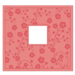 Making Memories - 12x12 Post Bound Album - Faux Leather Embossed Pink - Funky Vintage