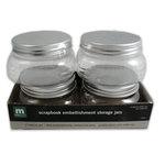 Making Memories - Scrapbook Embellishment Storage Jars - 4 Medium Jars