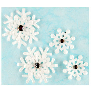 Making Memories - Brads - Christmas Collection - Snowflakes