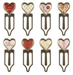 Making Memories - Love Story Collection - Valentine's Day - Pebble Clips - Hearts