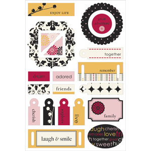Making Memories - 5th Avenue Collection - Colorboard Stickers Too - 3-Dimensional Chipboard Stickers - Elizabeth, CLEARANCE