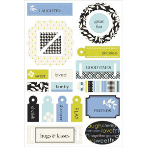 Making Memories - 5th Avenue Collection - Colorboard Stickers Too - 3-Dimensional Chipboard Stickers - Sophia, CLEARANCE