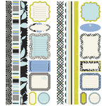 Making Memories - 5th Avenue Collection - Stickers - Borders and Tags - Sophia, CLEARANCE