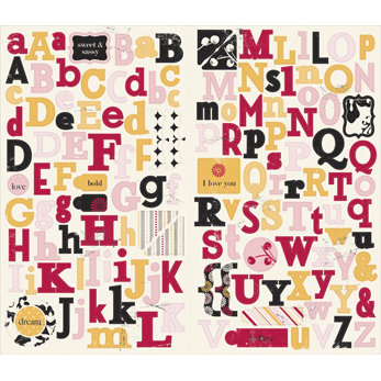 Making Memories - 5th Avenue Collection - Stickers - Chipboard Alphabet - Elizabeth