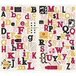 Making Memories - 5th Avenue Collection - Stickers - Chipboard Alphabet - Elizabeth