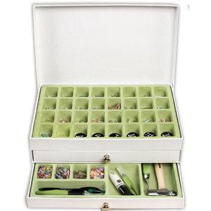 Making Memories - Embellishment Storage Box - White