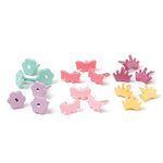 Making Memories - Value Pack - Flower Shaped Brads - Princess Bright, CLEARANCE
