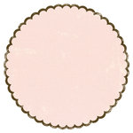 Making Memories - Animal Crackers Collection - 12x12 Scalloped Paper - Ella Scalloped Circle, CLEARANCE