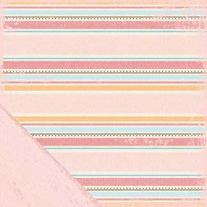 Making Memories - Animal Crackers Collection - 12x12 Double Sided Paper - Ella Stripe