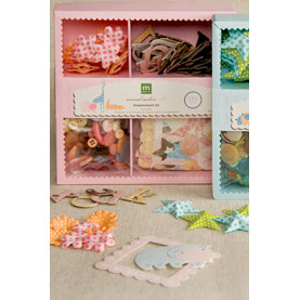 Making Memories - Animal Crackers Collection - Embellishment Kit - Ella, CLEARANCE