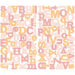 Making Memories - Animal Crackers Collection - Chipboard Alphabet Stickers - Ella, CLEARANCE