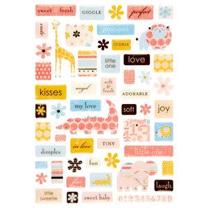 Making Memories - Animal Crackers Collection - Pebble Epoxy Stickers - Ella