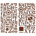 Making Memories - Noteworthy Collection - Shimmer Alphabet Stickers - Delaney, CLEARANCE