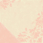 Making Memories - Noteworthy Collection - 12x12 Double Sided Paper - Addie Brocade Dot