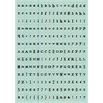 Making Memories - Tiny Alphabet Stickers - Teal Ledger