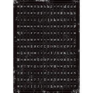 Making Memories - Tiny Alphabet Stickers - White and Black