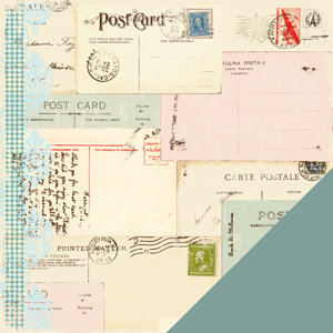 Making Memories - Passport Collection - 12x12 Double Sided Paper - Postcard