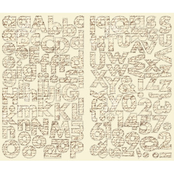 Making Memories - Passport Collection - Chipboard Alphabet Stickers, CLEARANCE