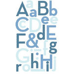 Making Memories - Puffy Alphabet Stickers - Blue, CLEARANCE